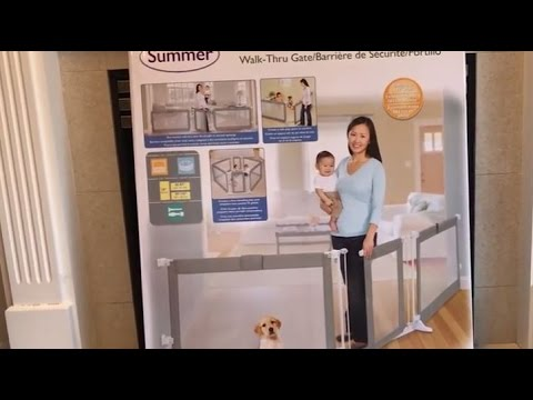 Summer Infant Custom Fit Safety Gate Blogger Review Youtube