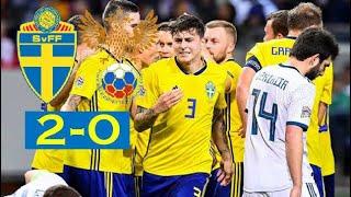 Sverige vs Ryssland 2-0 - Victor Nilsson Lindelöfs Mål! | 20/11-2018 | Nations League