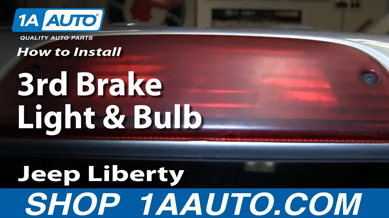 How To Replace 3rd Brake Light and Bulb 0206 Jeep Liberty