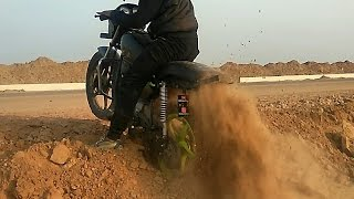 A little offroading on my splendor !! dirt bike | e bike | stunt bike | sport bike | bike rack