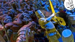 БИТВА 5 ВОИНСТВ ХОББИТА 5000 СИЛ ДОБРА против 6000 ОРКОВ  - Ultimate Epic Battle Simulator Gameplay