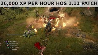 Witcher 3 - 26,000 XP per hour farming HoS 1.11 Patch