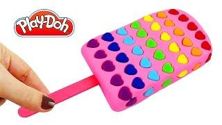 Плей До пластилин Лепим мороженое. Поделки из пластилина Play Doh своими руками. Игрушки +1
