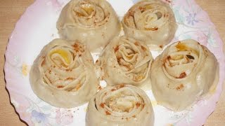 гуль Ханум - Цветок из теста с мясным фаршем