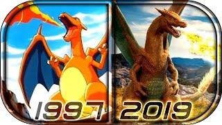 EVOLUTION of CHARIZARD 🔥in Movies Cartoons TV (1997-2019) Pokemon Detective Pikachu charizard scene