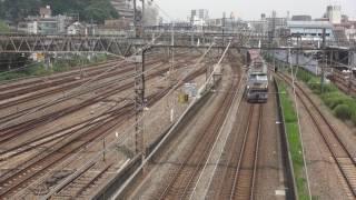 貨物列車 5075レ EF66-27 2017/08/05 花月園前踏切付近