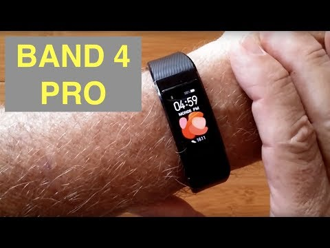 HUAWEI BAND 4 PRO Bright COLOR AMOLED Screen GPS IP68 Waterproof Fitness Band: Unboxing And 1st Look