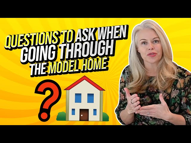 Questions First Time Home Buyers Should Ask When Going Through The Model Home w/ New Construction 🔨