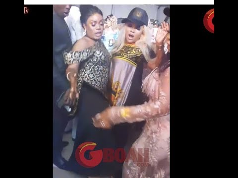See Mercy Aigbe Dancing one corner As Bobrisky, Femi Adebayo, Tayo Sobola Show Off Their Dance Moves