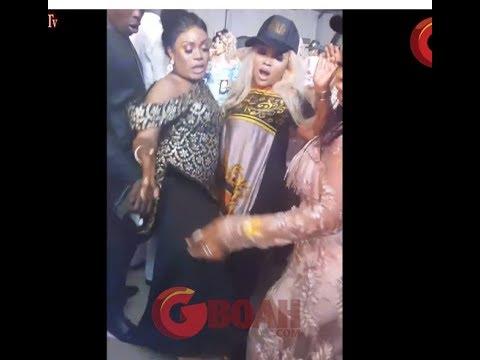 See Mercy Aigbe Dancing one corner As Bobrisky, Femi Adebayo, Tayo Sobola Show Off Their Dance Moves