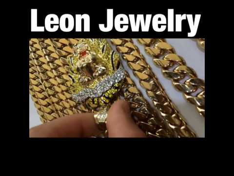 LEON JEWELRY MIAMI FINEST'S JEWELRY CUABN LINKS CUSTOM JEWELRY