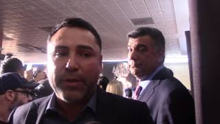 OSCAR DE LA HOYA REACTS TO CHAVEZ JR CLAIM HE WILL KO CANELO IN ROUND 8 & CONFIRMS PURSE BET