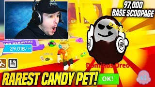 I GOT THE RAREST CANDY PET IN ICE CREAM SIMULATOR CANDY UPDATE!! (Roblox)