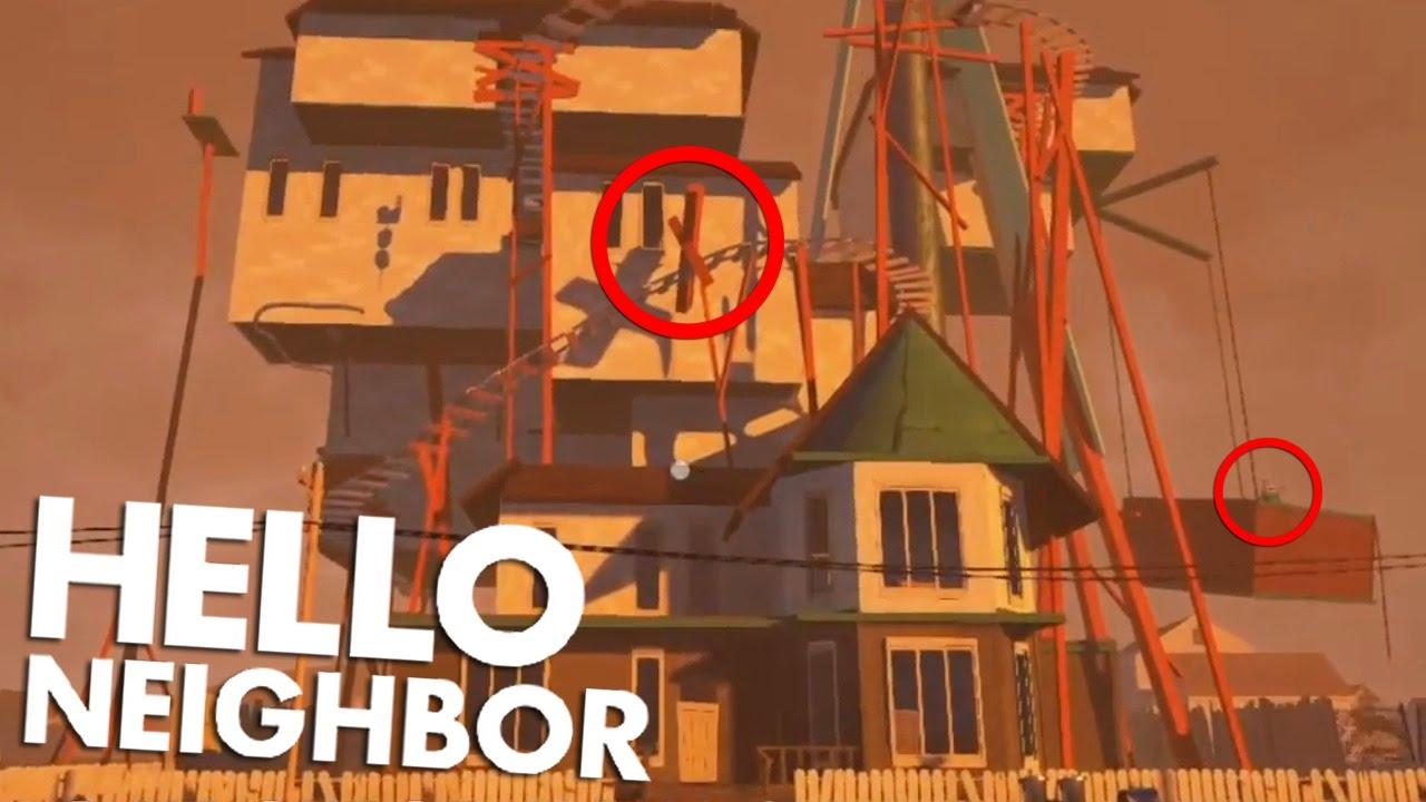 The hello neighbor house - New Alpha 3 House Is Huge Hello Neighbor Alpha 3 In Depth Analysis Youtube