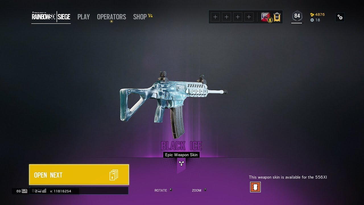 Black Ice Skin Rainbow Six Siege: OMG! MY FIRST BLACK ICE SKIN FROM ALPHA PACK