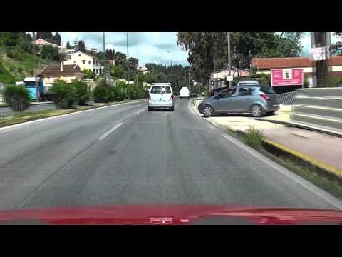Corfu (Kerkyra) Airport to Kassiopi - Survival Drive - Part One in HD.