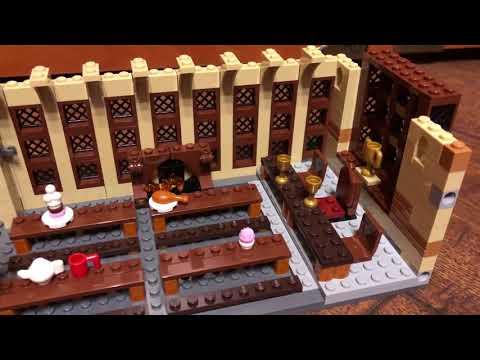 Обзор и сборка Lego Harry Potter Большой зал Хогвартса 75954