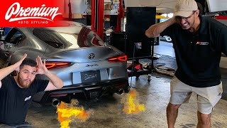 2020 Toyota Supra Catless Downpipe Install (It's so Loud NOW!)