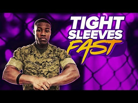 Faster way to roll tight sleeves for Marines | Clifford Shoc