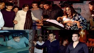 Khan Family at Salman's Brother In Law Aayush Sharma's Birthday Party
