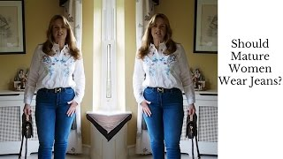 JEANS FOR MATURE WOMEN by a Mature Vlogger | Elizabeth Ann Evans