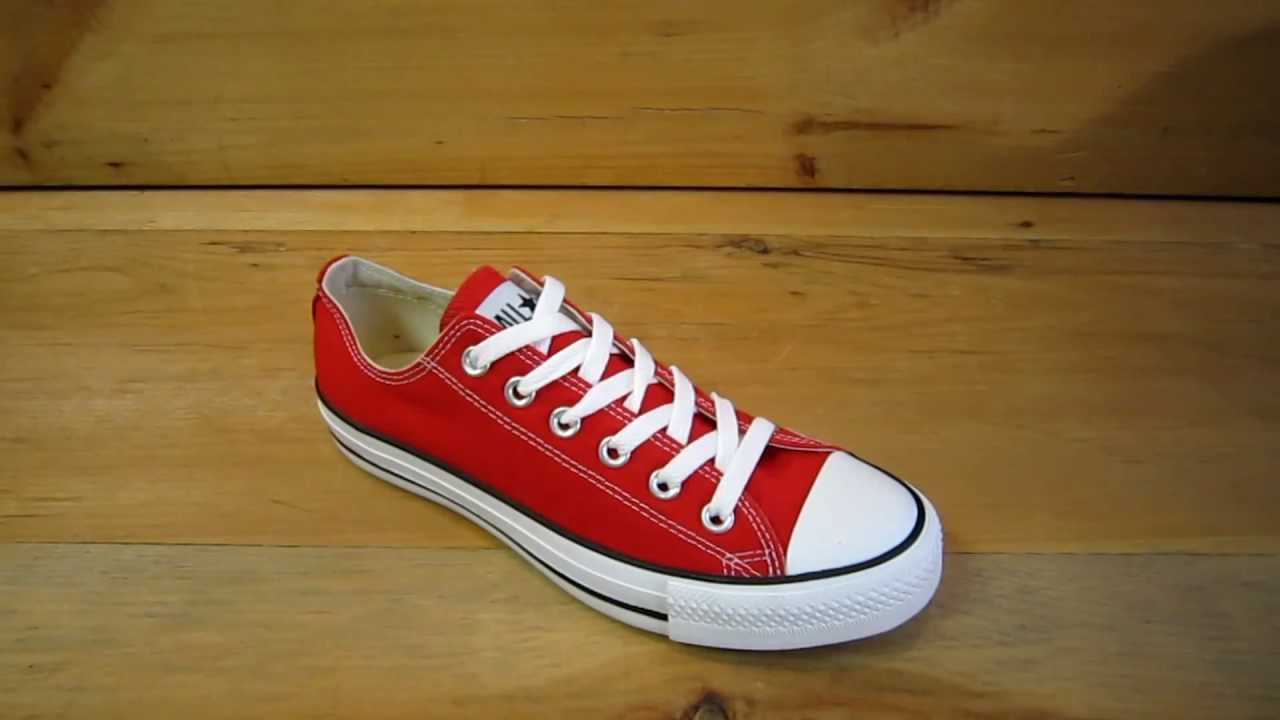 7bfce002b90c Converse All Stars Chuck Taylor Ox Red - YouTube