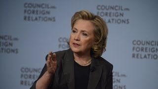 Former Secretary of State Clinton on Strategic Interests, Values, and Hard Choices