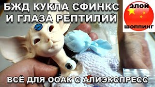 БЖД Кукла Сфинкс с Алиэкспресс и Глазки Рептилий