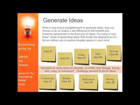 Basic Engineering Design (Brainstorming while Identifying the Problem)