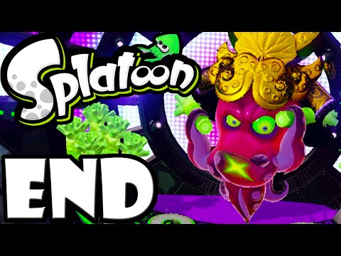 Splatoon Wii U ENDING Final Boss DJ Octavio Single Player Story Mode Scroll Gameplay Walkthrough END