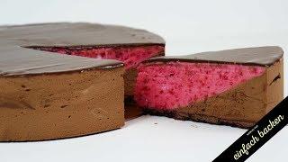 Schokoladen Himbeer Mousse Torte