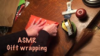ASMR Gift wrapping Birthday (No talking) paper crinkles
