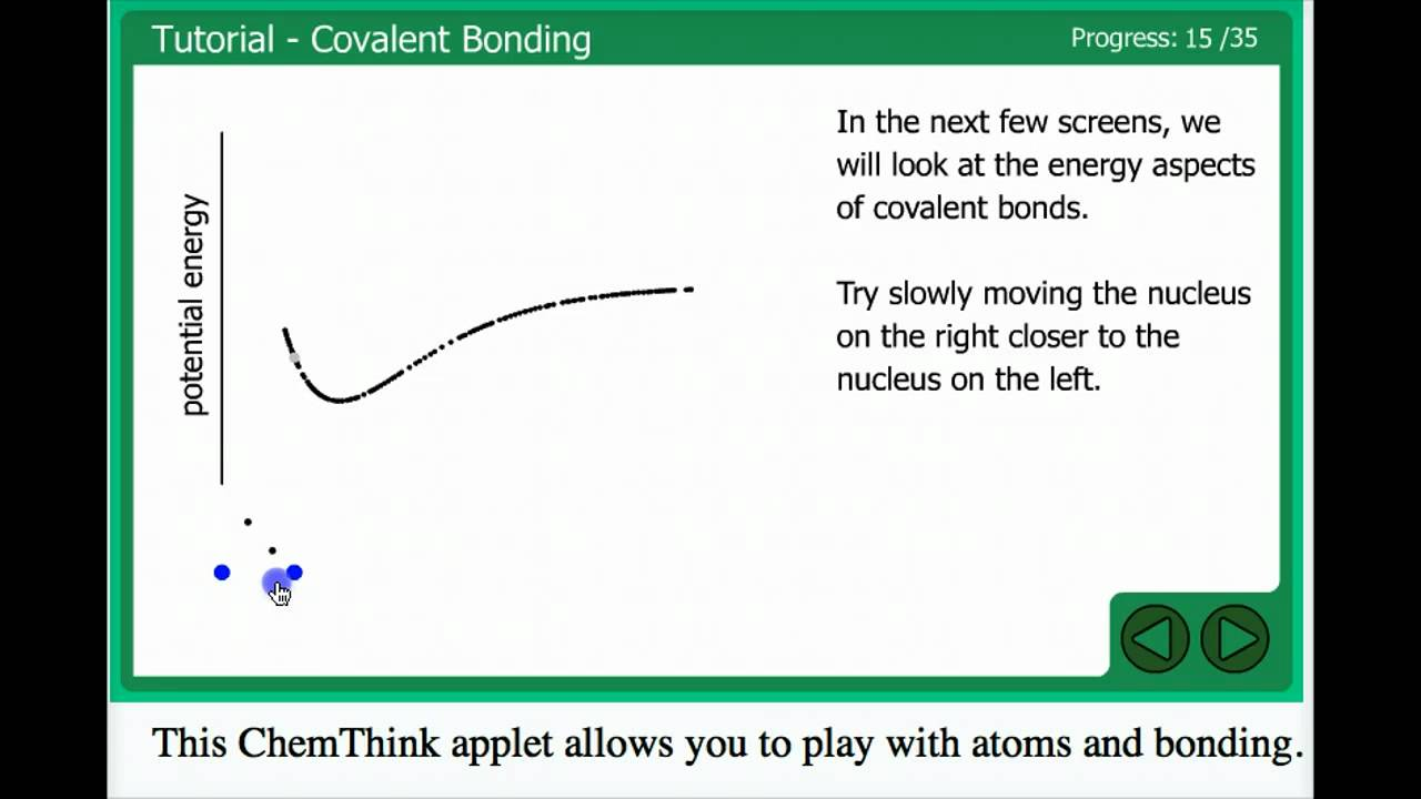 Covalent bond derived from ChemThink applet YouTube – Covalent Bonding Worksheet Answers