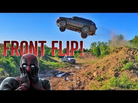 Epic GMC JIMMY JUMP! FRONT FLIP!!!