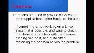 Linux Chapter 18 - Daemons