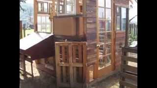 Large Chicken Coop- Recycled Pallets & Wood