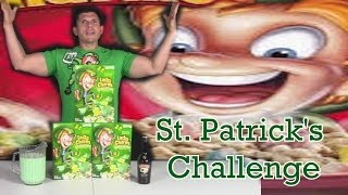Lucky Charms, Baileys & Milk Challenge | St. Patrick