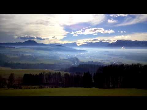 Blick über Das Alpenvorland In Die Salzburger Und Berchtesgadener Alpen