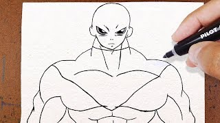 COMO DESENHAR o JIREN, DRAGON BALL SUPER