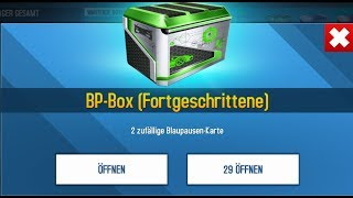 Asphalt 8 opening 29 Blueprint Boxes
