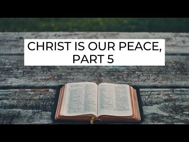 Christ Is Our Peace, Part 5 - Ephesians 2:18 (Pastor Robb Brunansky)