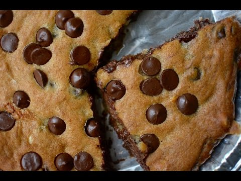 Eggless Pizookie Recipe | Nutella Stuffed Chocolate Chip Cookie | Easy And Quick Dessert For Party