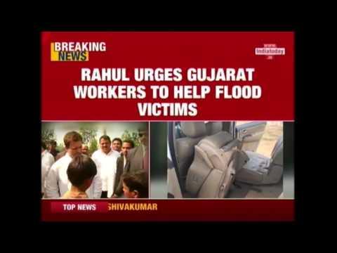 Rahul Gandhi Asks Workers To Help Flood-Hit Gujarat People