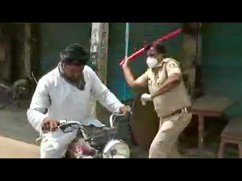 CRAZY - Indian Cops Whack Corona Curfew Breakers With Sticks