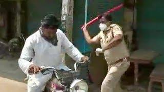 CRAZY - Indian Cops Whack Corona Curfew Breakers With Sticks