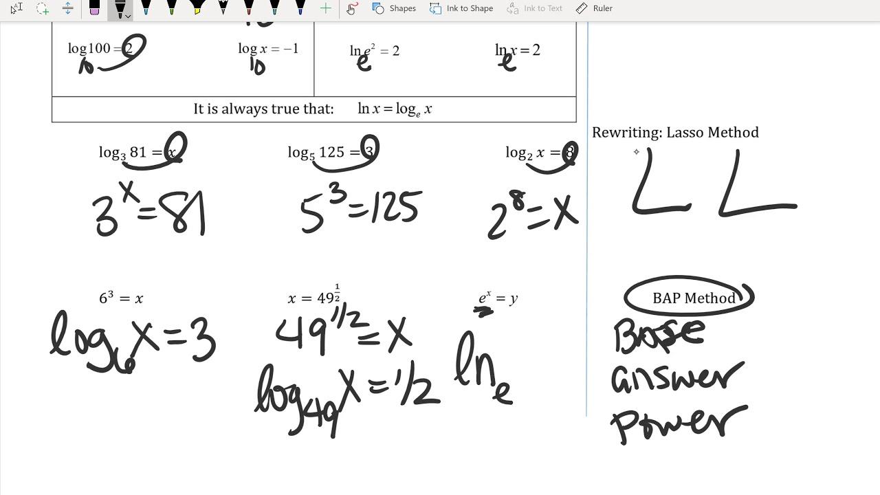 Unit 7&9 PART 1 Algebra 2 Final Exam Review - YouTube
