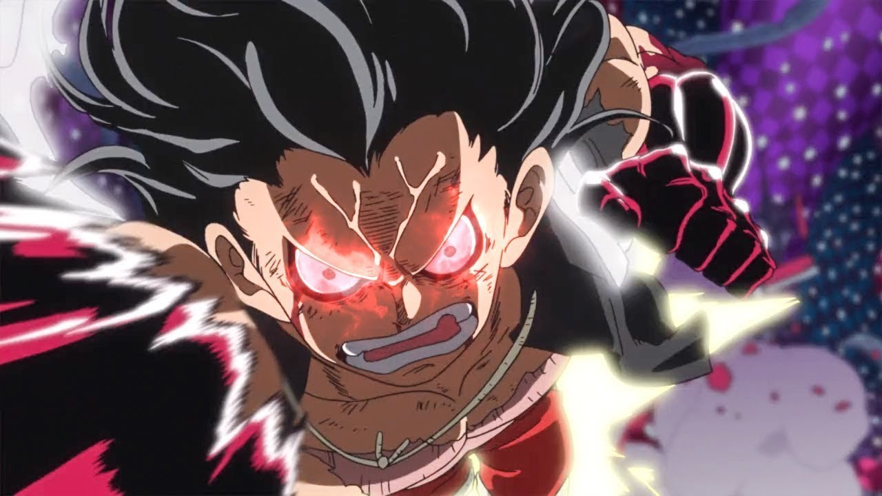 This red aura is an indicator when you're in the form. Luffy Snake Man vs Katakuri Full Fight One Piece - YouTube