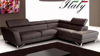Sparta Sectional In Italian Leather