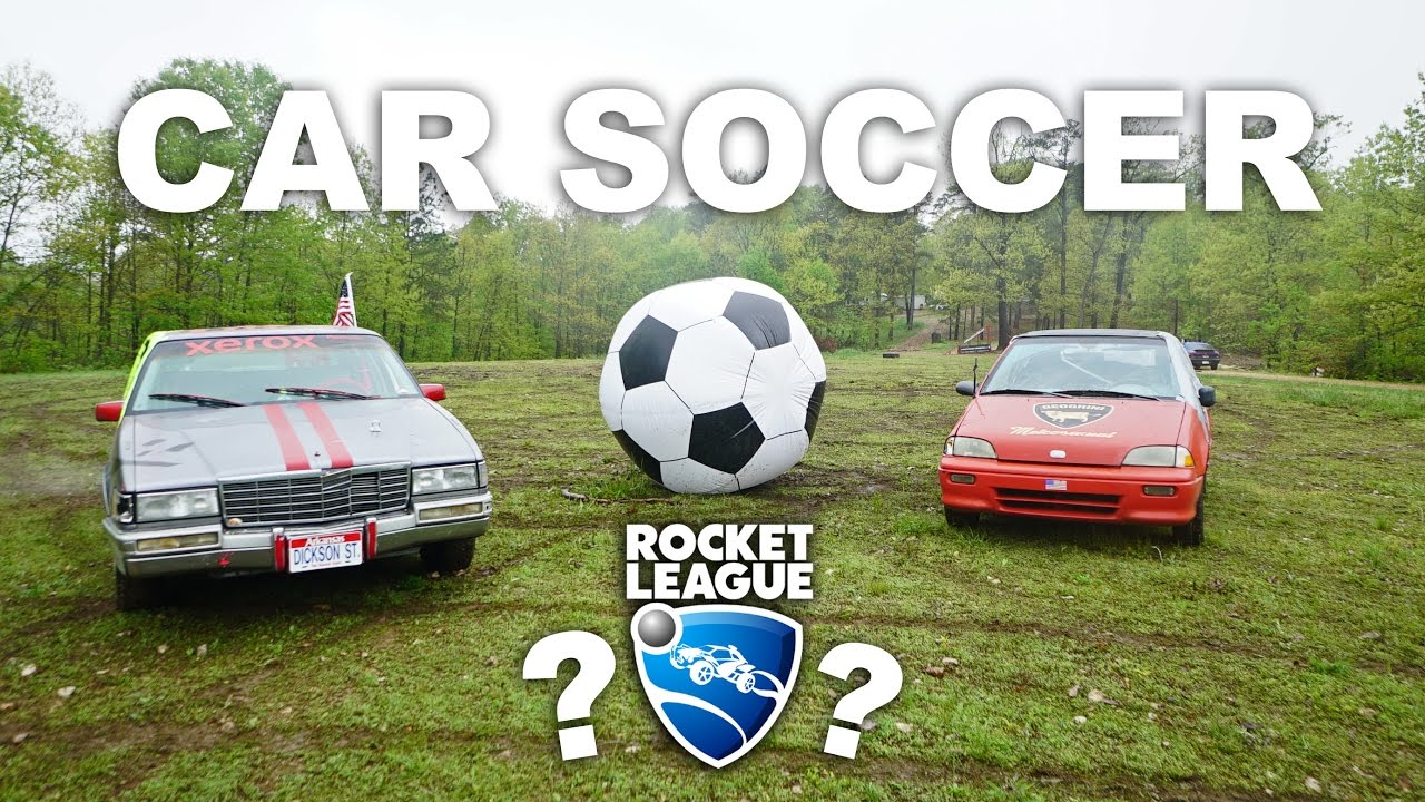 Rocket League In Real Life Soccer With Cars Youtube
