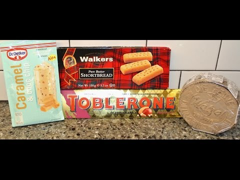 From Germany Dr. Oetker Caramel & Choc Chip, Walkers Shortbread, Toblerone Fruit/Nut And Oblaten